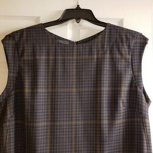 Pendleton slate blue plaid sleeveless dress sz 18